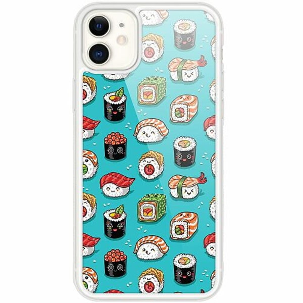 Apple iPhone 12 mini Transparent Mobilskal med Glas Sushi