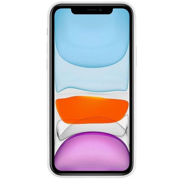 Apple iPhone 12 mini Vitt Mobilskal med Glas Varg