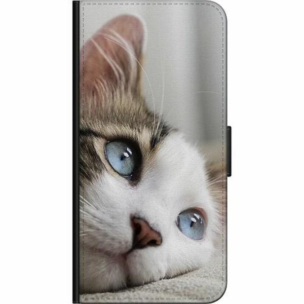 Huawei P20 Lite Fodralväska Cat With Beautiful Blue Eyes