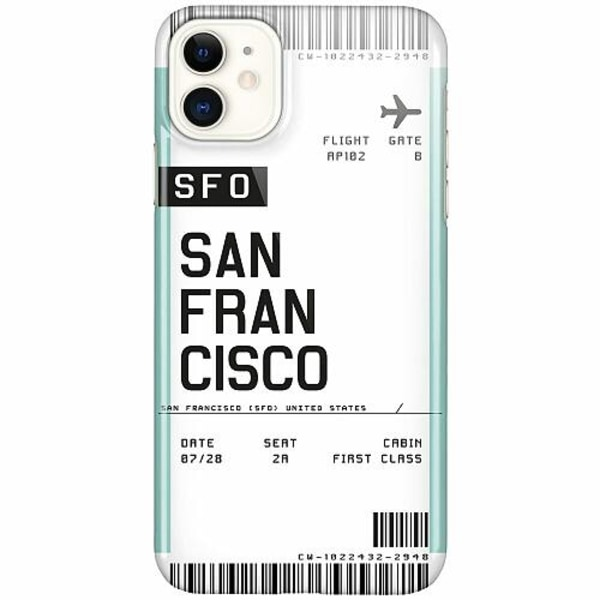 Apple iPhone 12 LUX Mobilskal (Glansig) BOARDING PASS - SFO