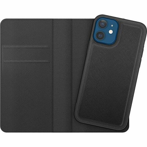 Apple iPhone 12 Magnetic Wallet Case Dots, Lines, What
