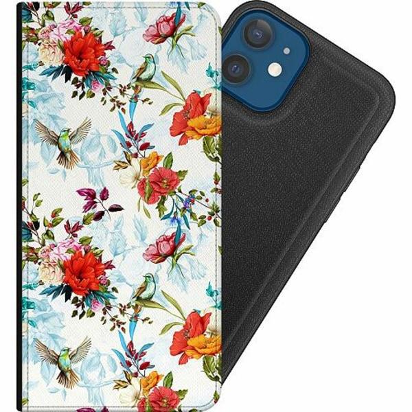 Apple iPhone 12 Magnetic Wallet Case Blommor