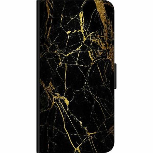 Apple iPhone XS Max Billigt Fodral Marble Black&Gold