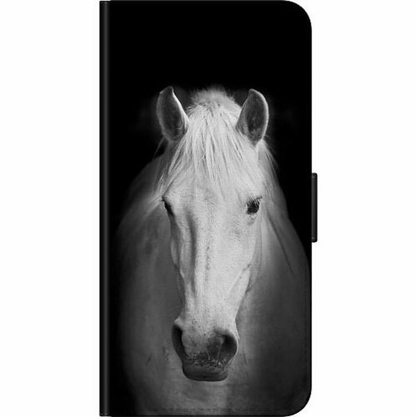 Huawei P20 Pro Billigt Fodral Vit Häst