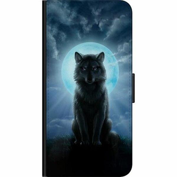 Samsung Galaxy A21s Billigt Fodral Wolf in the Dark