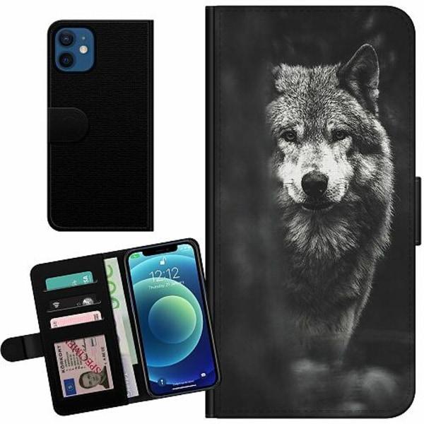 Apple iPhone 12 mini Billigt Fodral Wolf / Varg