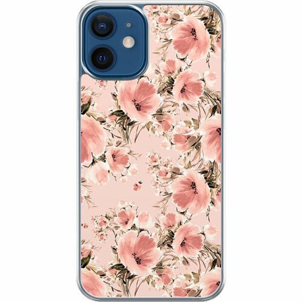 Apple iPhone 12 mini Hard Case (Transparent) Blommor