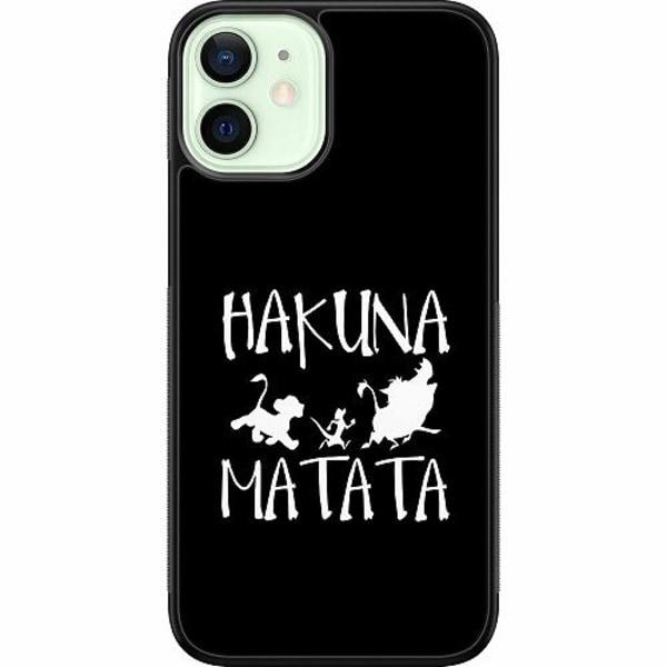 Apple iPhone 12 mini Soft Case (Svart) Hakuna Matata