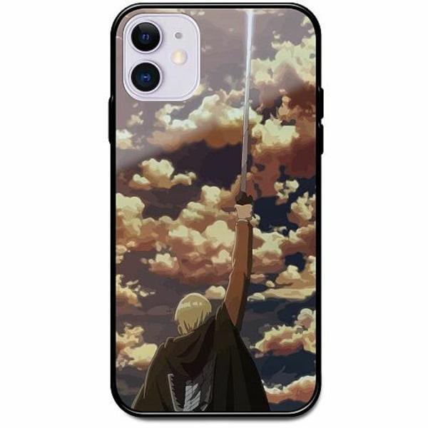 Apple iPhone 12 Svart Mobilskal med Glas Attack On Titan