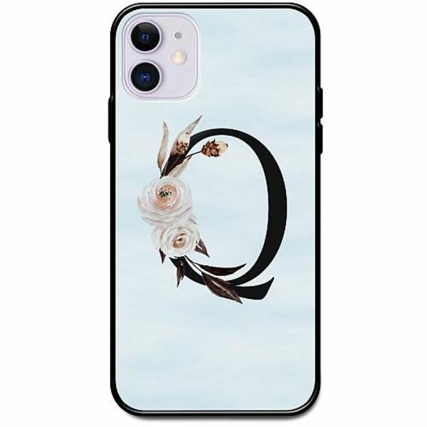 Apple iPhone 12 Svart Mobilskal med Glas Bokstäver