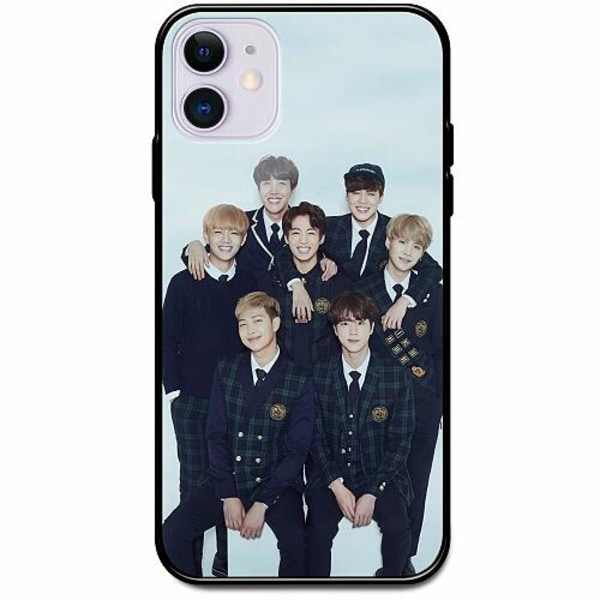 Apple iPhone 12 Svart Mobilskal med Glas K-POP BTS