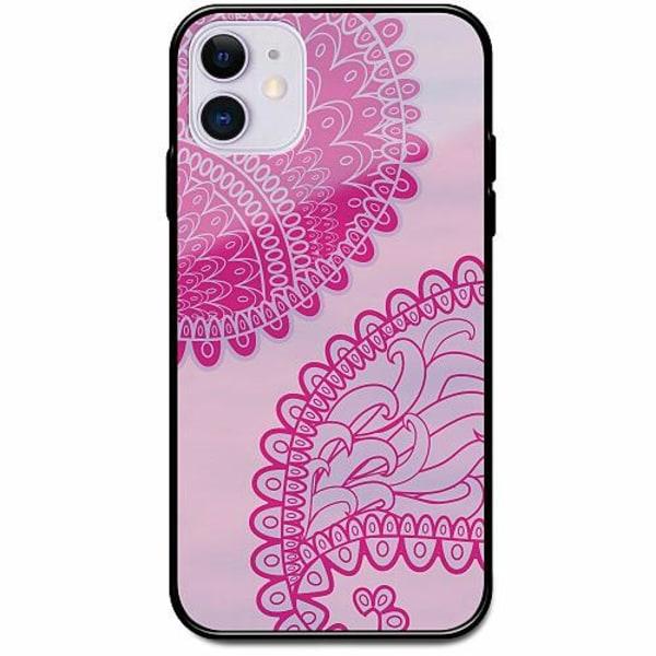 Apple iPhone 12 Svart Mobilskal med Glas Pinkish Life