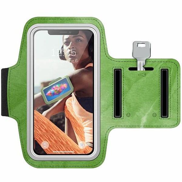 Nokia 7 Plus Träningsarmband / Sportarmband -  Folded Greenery