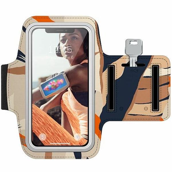 Nokia 7 Plus Träningsarmband / Sportarmband -  Powered By Beige