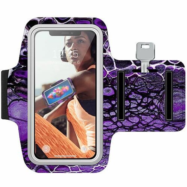 Nokia 7 Plus Träningsarmband / Sportarmband -  Purple Lava
