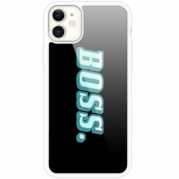Apple iPhone 12 mini Vitt Mobilskal med Glas Boss