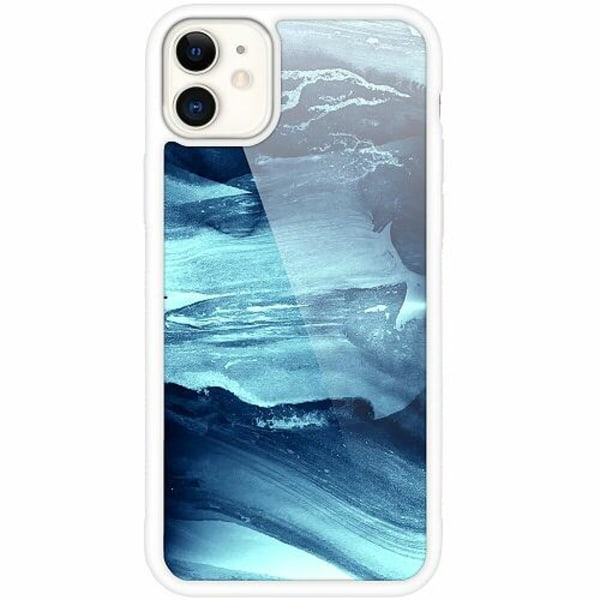 Apple iPhone 12 mini Vitt Mobilskal med Glas Deep Sea