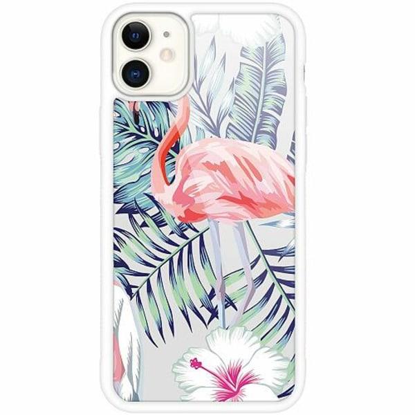 Apple iPhone 12 mini Vitt Mobilskal med Glas Flamingo