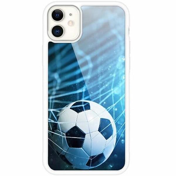 Apple iPhone 12 mini Vitt Mobilskal med Glas Fotboll