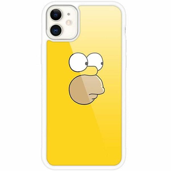 Apple iPhone 12 mini Vitt Mobilskal med Glas Homer Simpson