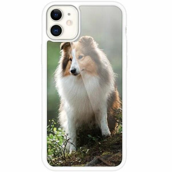 Apple iPhone 12 mini Vitt Mobilskal med Glas Hund
