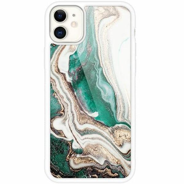 Apple iPhone 12 mini Vitt Mobilskal med Glas Jungle