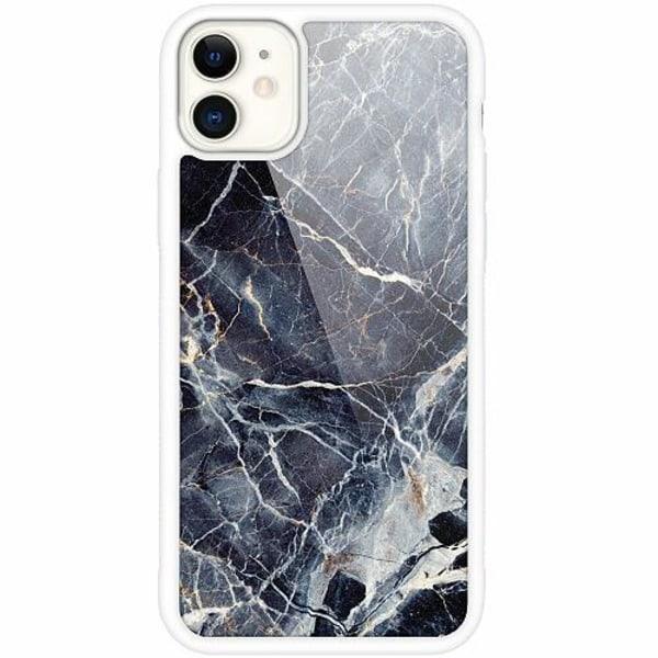 Apple iPhone 12 mini Vitt Mobilskal med Glas Marbled