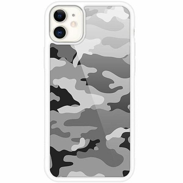 Apple iPhone 12 mini Vitt Mobilskal med Glas Military B/W