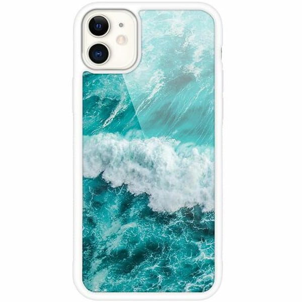 Apple iPhone 12 mini Vitt Mobilskal med Glas Ocean