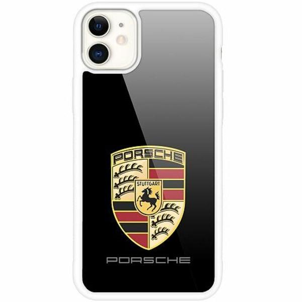 Apple iPhone 12 mini Vitt Mobilskal med Glas Porsche