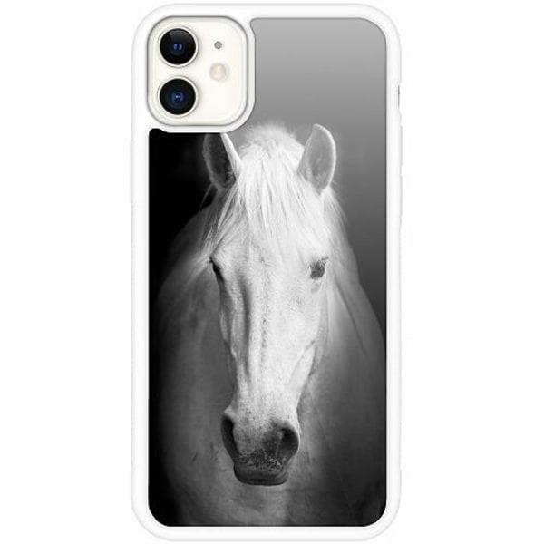 Apple iPhone 12 mini Vitt Mobilskal med Glas Vit Häst