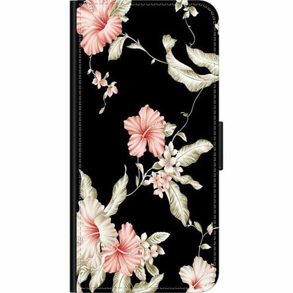 Xiaomi Mi 10T Pro 5G Wallet Case Floral Pattern Black