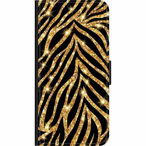 Samsung Galaxy A20s Wallet Case Gold & Glitter
