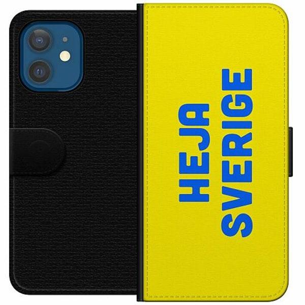 Apple iPhone 12 mini Wallet Case Heja Sverige / Sweden