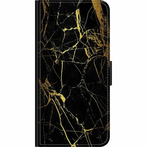 Sony Xperia 5 Wallet Case Marble Black&Gold