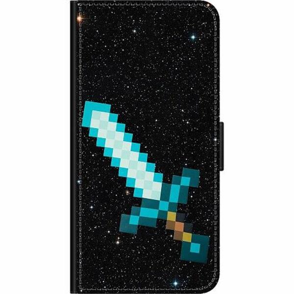 Samsung Galaxy A71 Wallet Case Minecraft Svärd