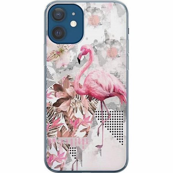 Apple iPhone 12 Mjukt skal - Flamingo
