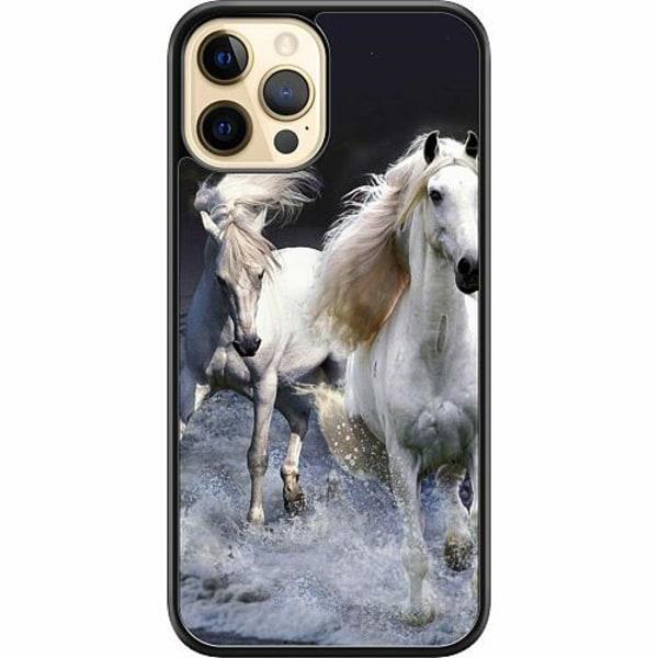 Apple iPhone 12 Pro Max Hard Case (Svart) Häst / Horse