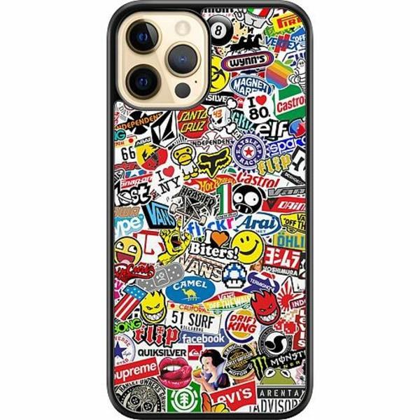 Apple iPhone 12 Pro Max Hard Case (Svart) Stickers