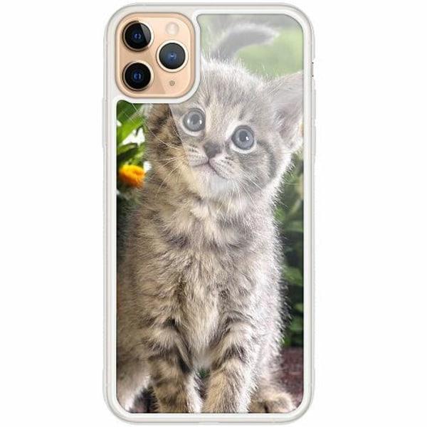 Apple iPhone 12 Pro Transparent Mobilskal med Glas Cat