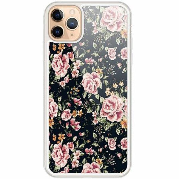 Apple iPhone 12 Pro Transparent Mobilskal med Glas Flowers
