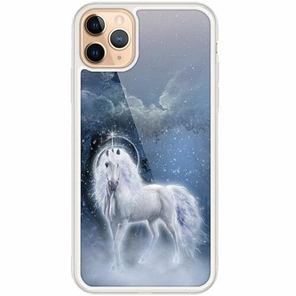 Apple iPhone 12 Pro Transparent Mobilskal med Glas Unicorn