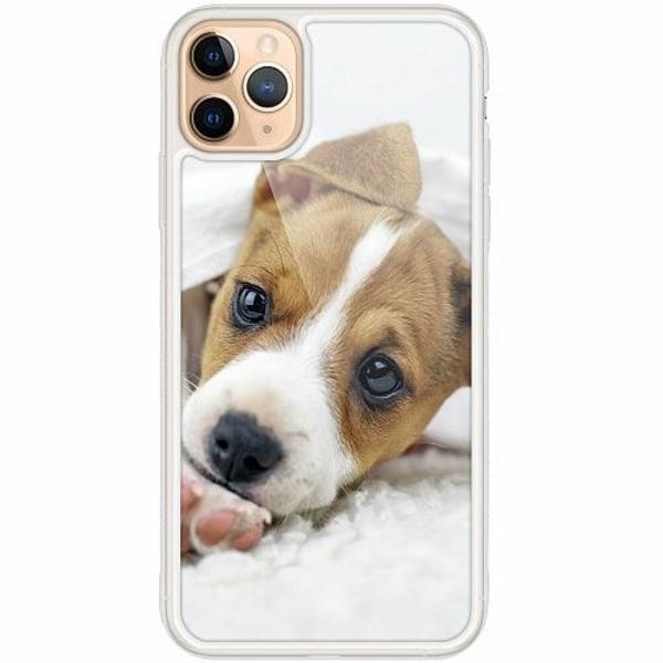 Apple iPhone 12 Pro Transparent Mobilskal med Glas Cute Puppy