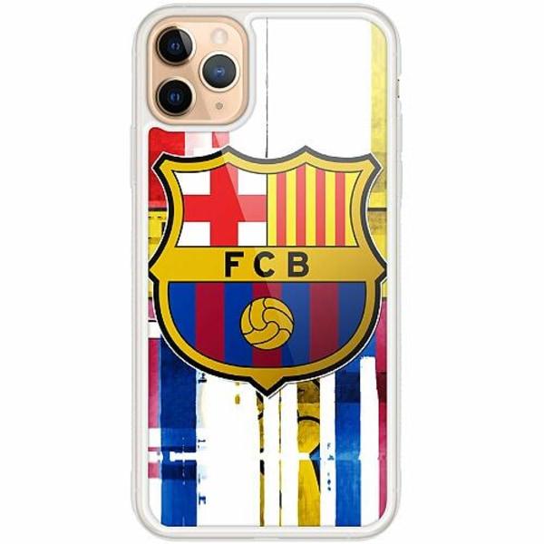 Apple iPhone 12 Pro Transparent Mobilskal med Glas FC Barcelona
