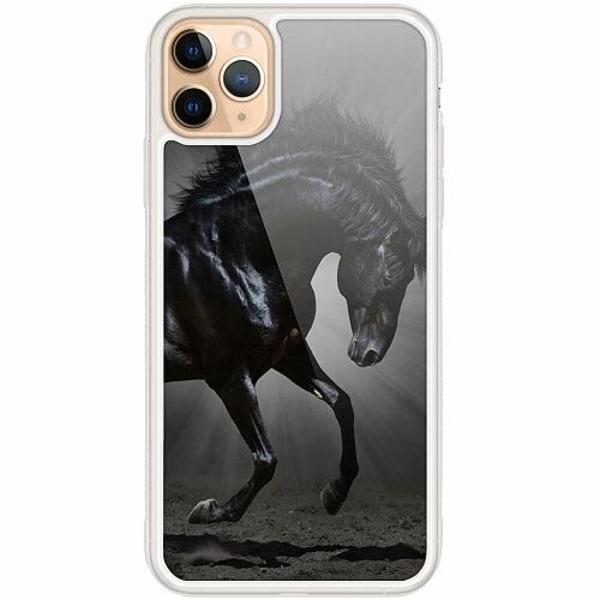 Apple iPhone 12 Pro Transparent Mobilskal med Glas Häst / Horse