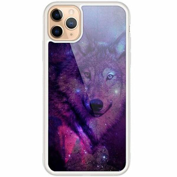 Apple iPhone 12 Pro Transparent Mobilskal med Glas Wolf / Varg