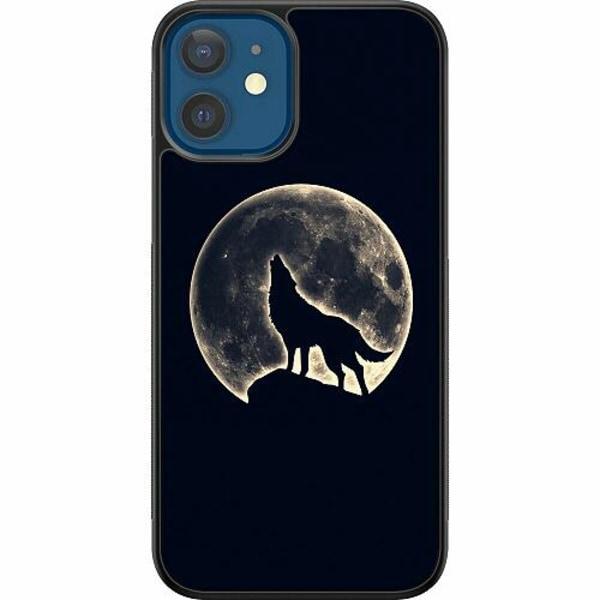 Apple iPhone 12 Billigt mobilskal - Howling Moon Wolf