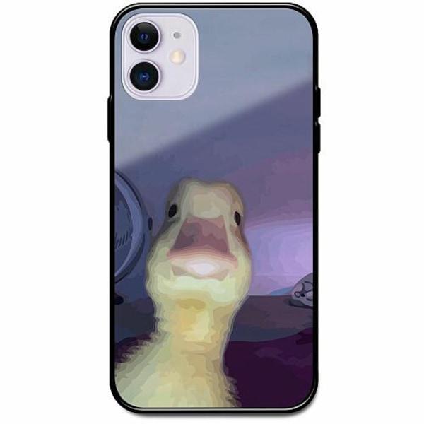 Apple iPhone 12 Svart Mobilskal med Glas Untitled Goose