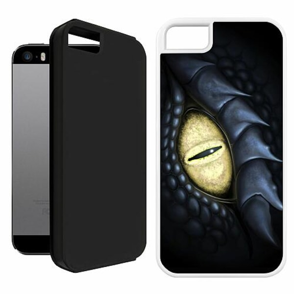 Apple iPhone 5 / 5s / SE Duo Case Vit Eye Of The Dragon