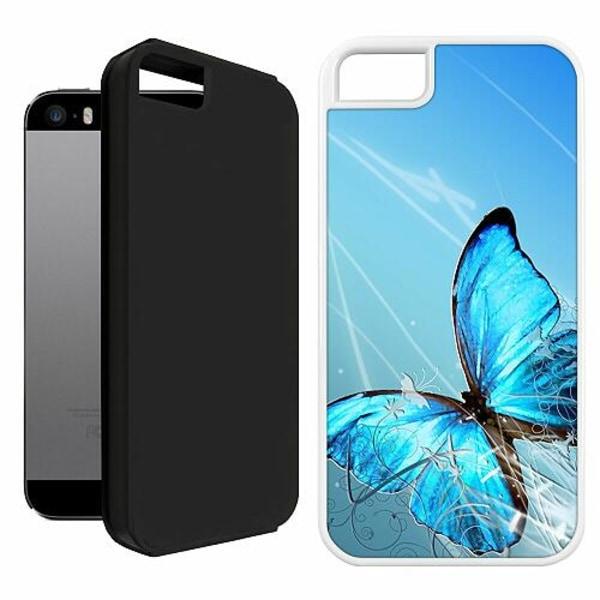 Apple iPhone 5 / 5s / SE Duo Case Vit Fjäril